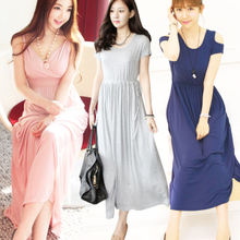 jbonly new Korean Women Dress spring and summer knit dress strapless halter dress beach skirt