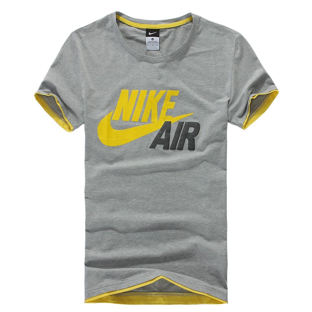 Спортивная футболка Nike 2013 Стандартный О-вырез Короткие рукава ( ≧35cm ) CVC Влагопоглощающие, Быстросохнущие, Ультралегкие, Воздухопроницаемые Логотип бренда, Рисунок, Простое, однотонное, Офсетная печать