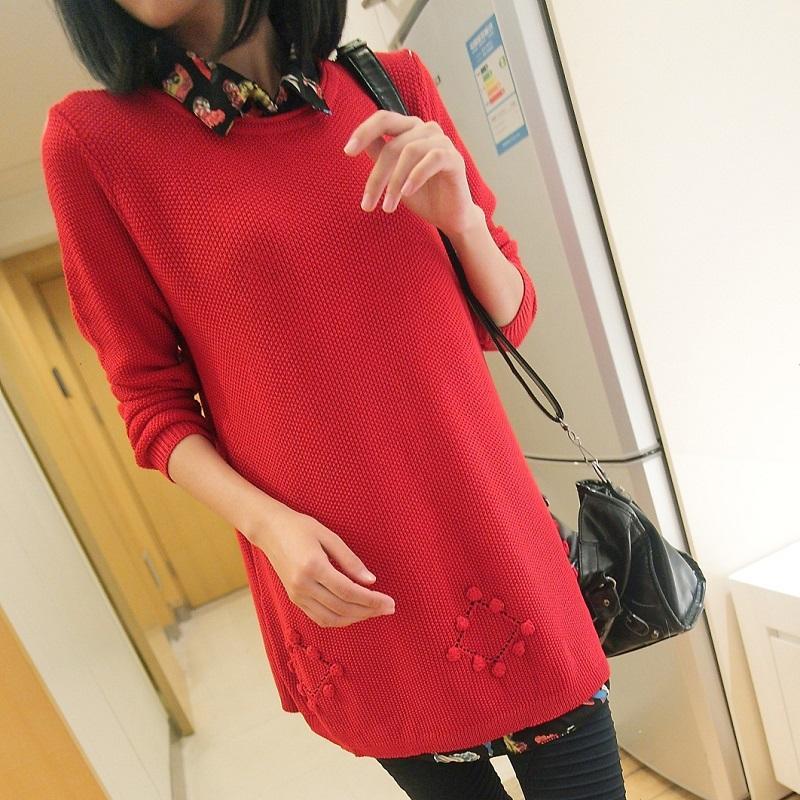 Трикотаж Весна 2013 новые два куска в корейской версии полые длинный свитер пальто Женские свитера