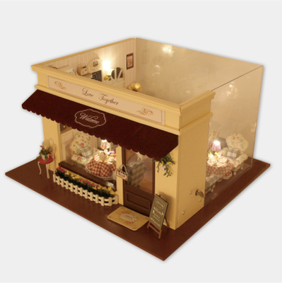 DIY hut love melody large handmade model retro romantic cafe to send girls birthday gift