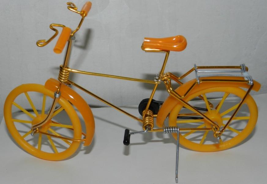 铁丝铁线手工自行车模型仿真迷你特色创意铝丝线工艺品自行车玩具