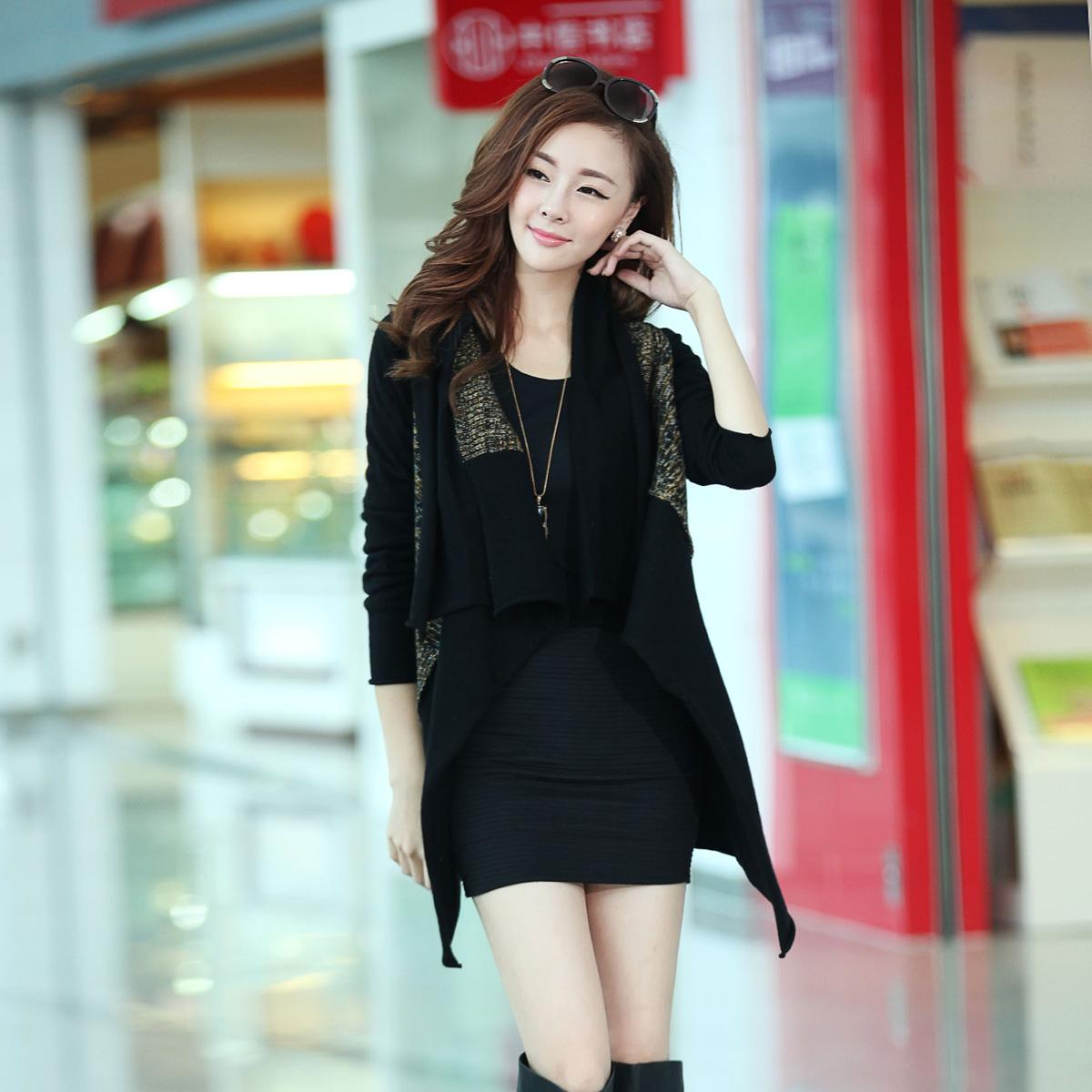 Свитер женский Осень/Зима 2013 с новой корейской версии легко похудения плюс размер длинные цветов пряжи свитер