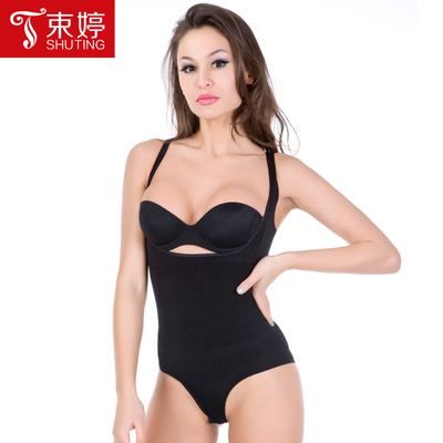Free shipping autumn breathable Siamese Fighting Fat Burning girly postpartum abdomen hip corset body slimming tights