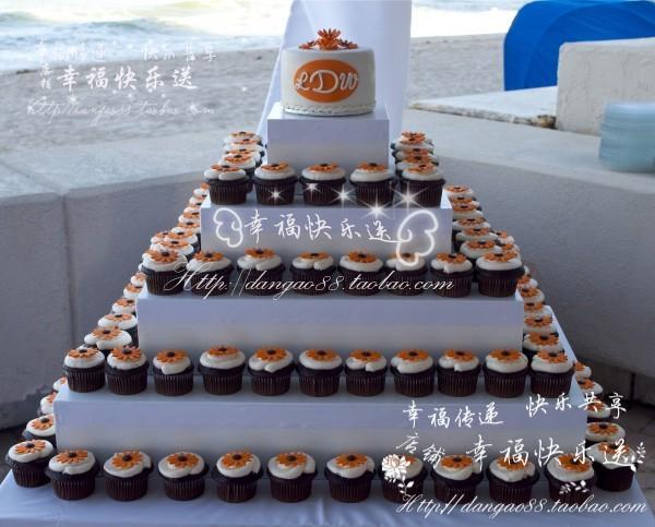 翻糖杯子蛋糕cupcake 甜点 冷餐区 小花纸杯蛋糕 甜品塔小甜点