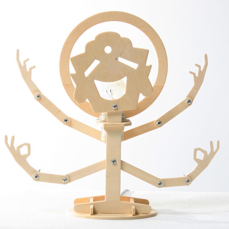 GeekCook极客库千手囧佛DIY木质台灯置物架整理架卧室床头护眼灯