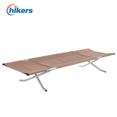 Happy passenger luxury siesta bed accompanying bed portable camp bed aerospace aluminum reinforcement outdoor folding bed
