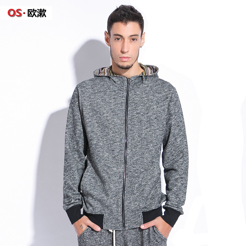 OS. Heavy qiu dong men thickening code fleece male fertilizer increased cardigan men's coat\ Taobao Agents