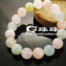 G of beads/natural AAAA Morgan stone crystal bracelet beryl The blue color sea hand jewelry necklace