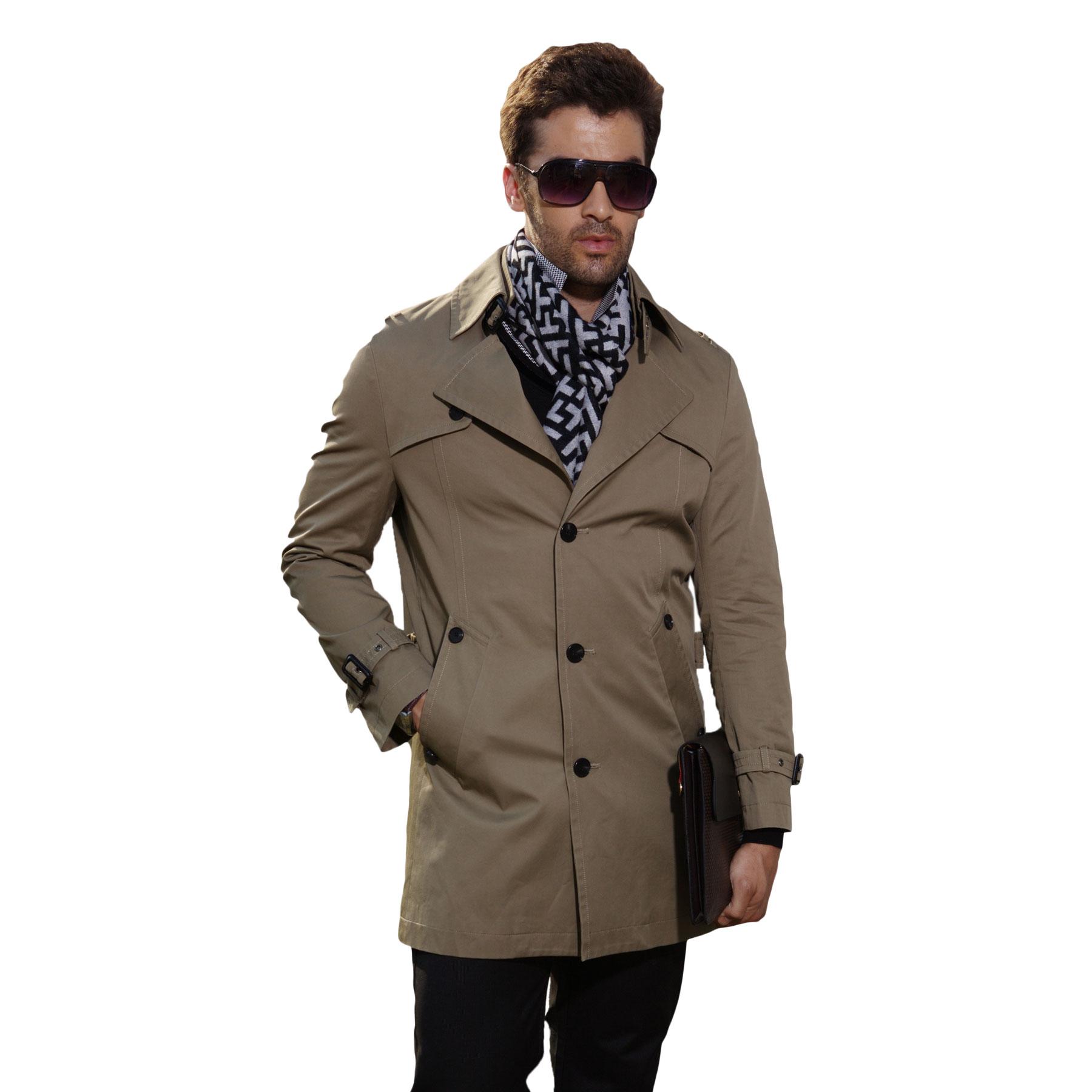 2013新款中年哥弟風衣男士中長款風衣 英倫 明星同款風衣外套包郵圖片