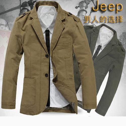 包邮2013新款春秋装jeep夹克男装正品西装领外套休闲薄款jacket潮