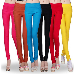 Spring/summer 2013 Candy-colored feet female trousers slim tall pants high waist stretch pencil pants for email