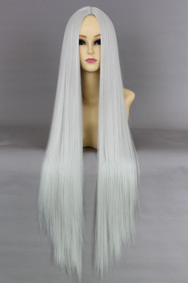 fate / zero meter gray carved 100cm long straight hair cosplay costume fake hair wig
