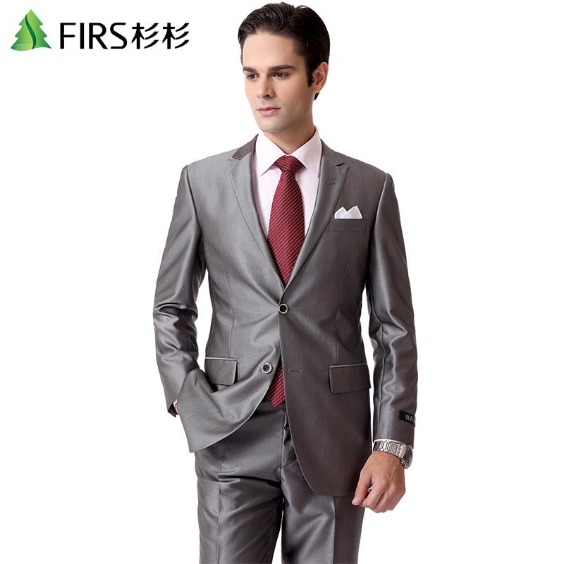 杉杉新款西服套装 男士韩版西装商务休闲套西 结婚礼服男装601525