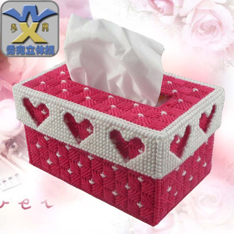 Sau Wan tissue box stereo stereo embroidery cross stitch kits and explosive popularity of heavy-weight loss-making color mail