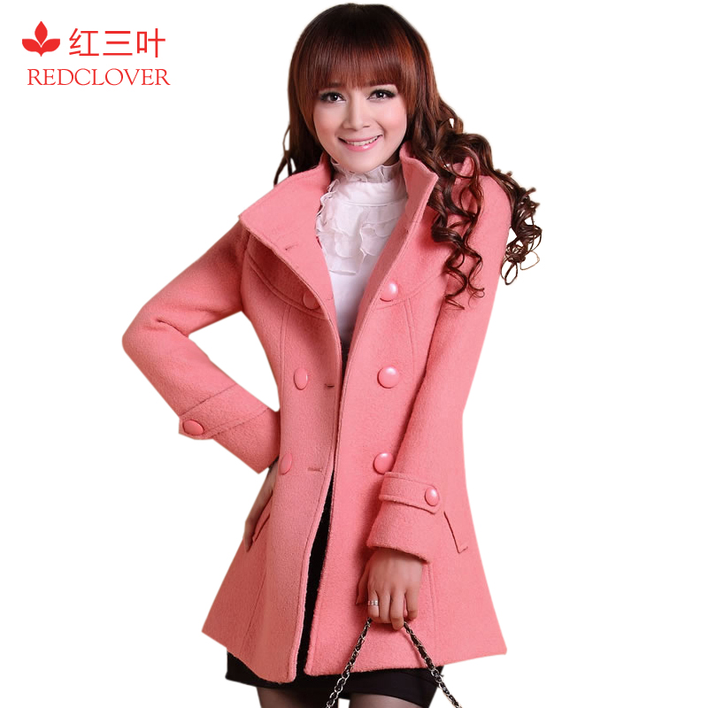 Spring loaded 2013 Barret coat women red clover in Korean trench around wallet slim ladies ' coats D132