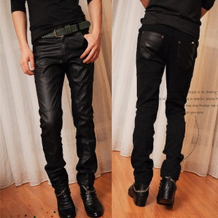 Tide men's singer-Korean Slim pants, men's trousers, the trend of alternative stage costume costume night stitching