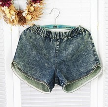 2013 new Korean women summer denim shorts loose shorts shorts big yards fat mm thin genuine