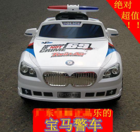 ledea/乐的883儿童电动车 玩具车 儿童 可坐遥控警车儿童电动汽车