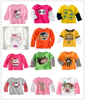 Children's clothes on sale cheap children's T-shirt small flaws private baby cotton long sleeve T-shirt Overflow in the