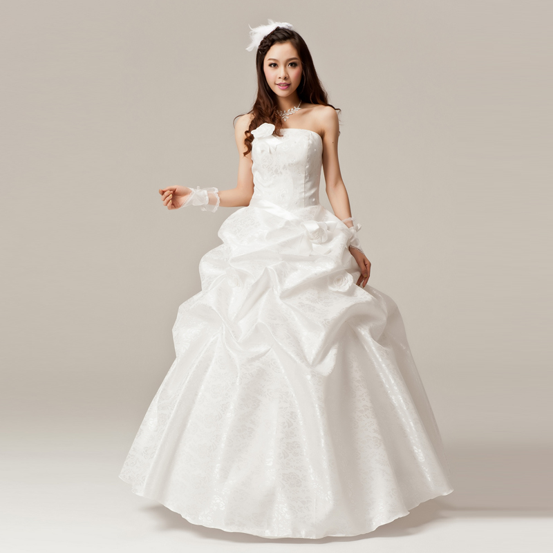 2013 latest wedding princess dress korean version of sweet wedding korean qi bra hotels married wedding