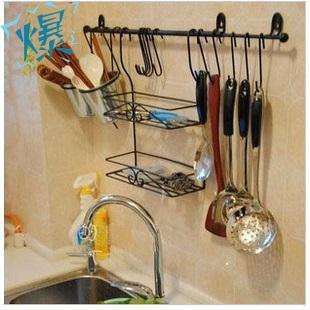 欧式铁艺厨房置物架收纳架用品刀架厨具调味调料架锅架角架储物架