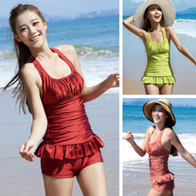 Thereque Three strange new bikini Korea four sets of steel plate design come together and enjoy Hoodie women swimsuit 3050
