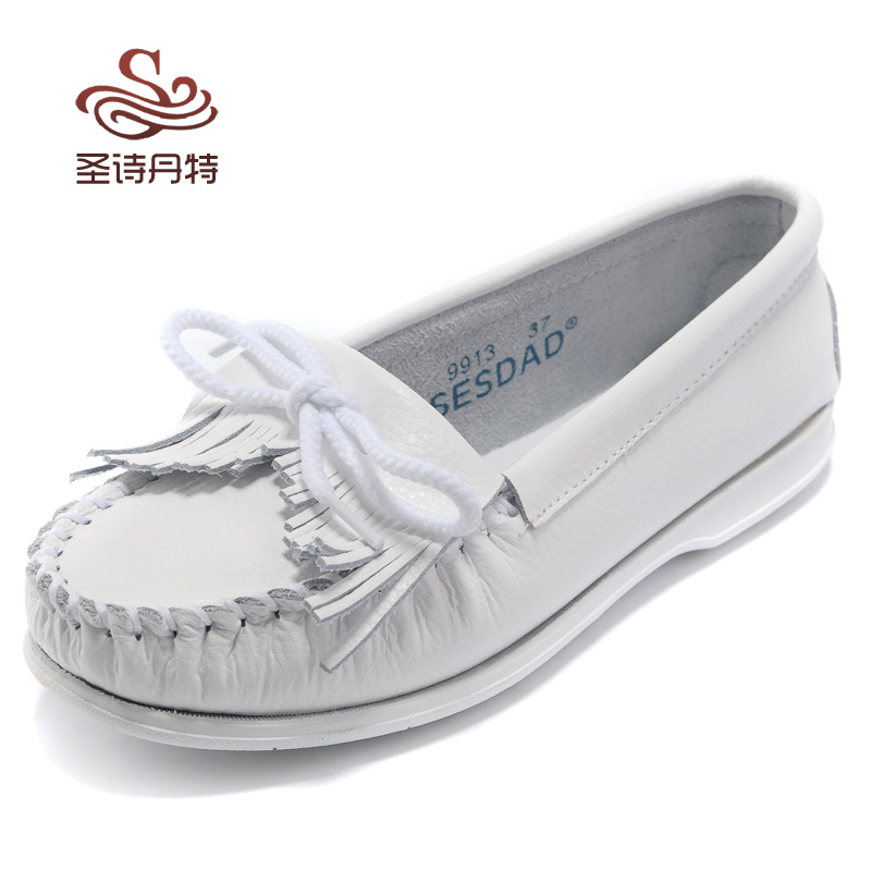 all leather white nursing shoes