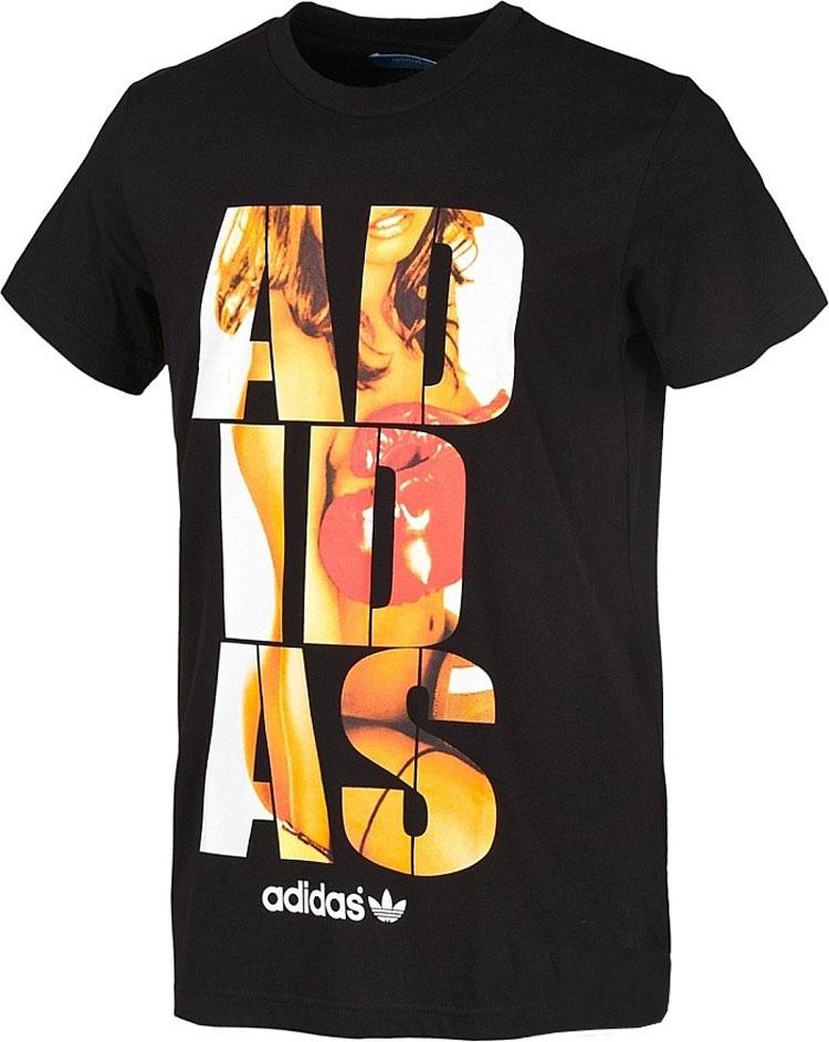 2013夏新品阿迪达斯/adidas 三叶草大log字母圆领短袖t恤专柜正品