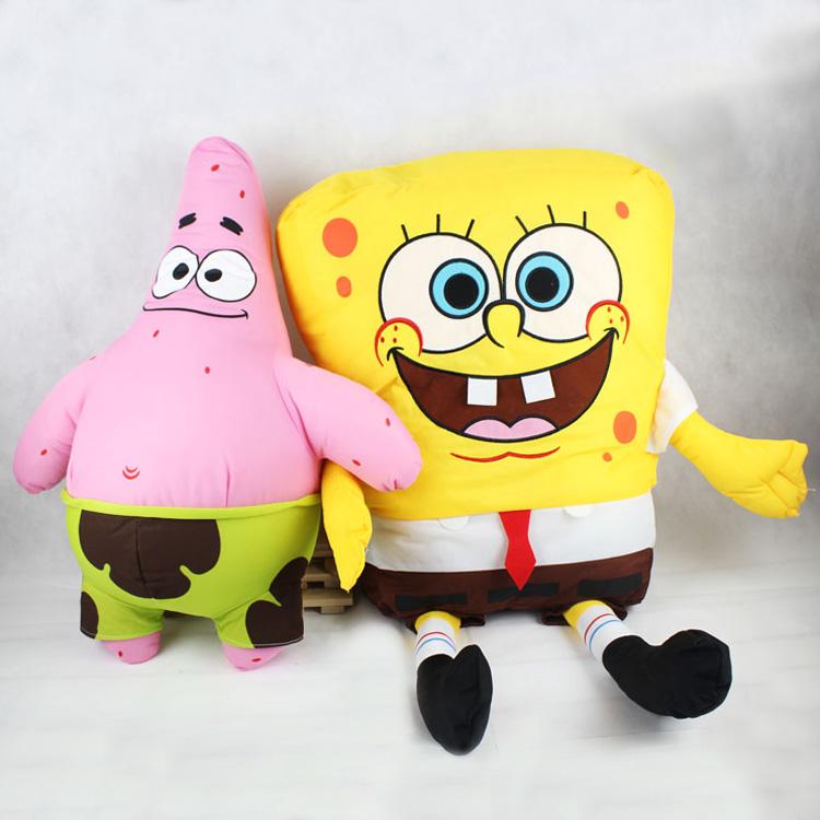 超大海绵宝宝 胖大星 派大星公仔 毛绒玩具娃娃 七夕节礼物包邮
