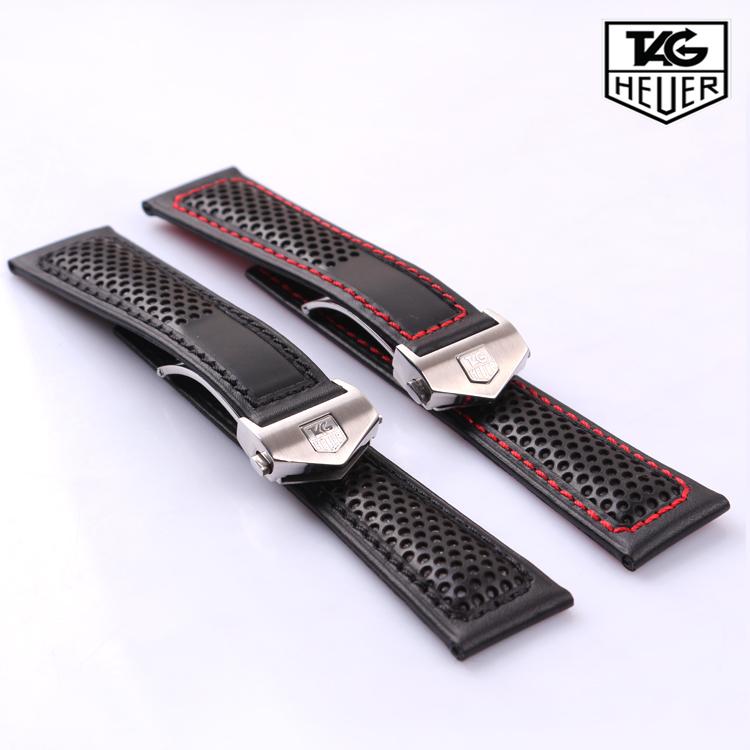 Часы Leather strap Tag-heuer 22 Механические с автоподзаводом Аксессуары для часов