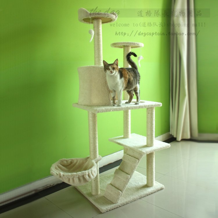 Special offer double-platform ladder climbing frame cat toy cat tree-climbing frame-Zhejiang-Shanghai package mail