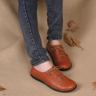 Q.VONTON Wood 1975 blue wan Tian fluff suede insole Fall New comfortable shoes low shoes