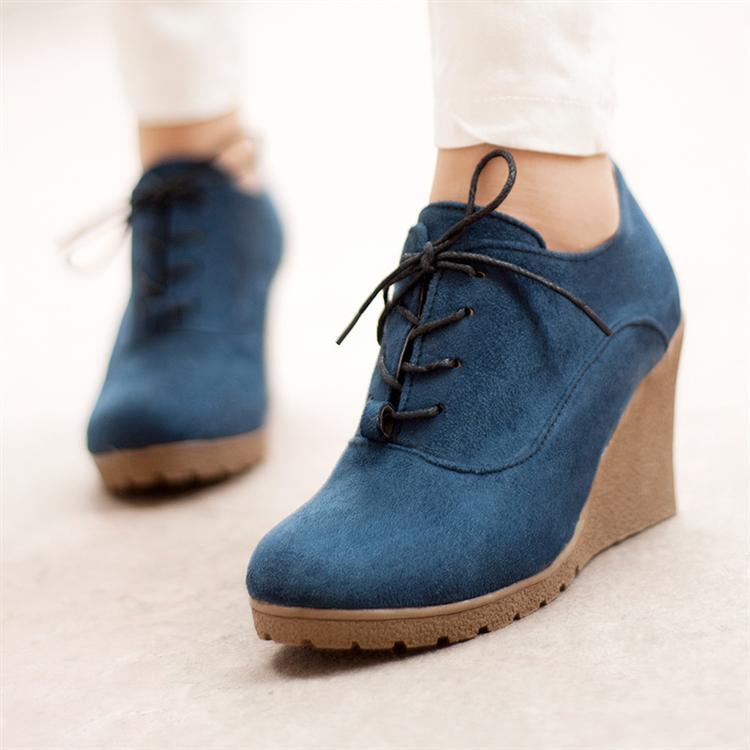 туфли 女单鞋春秋季坡跟鞋韩版女式防水台高跟鞋松糕鞋2013新款潮鞋子