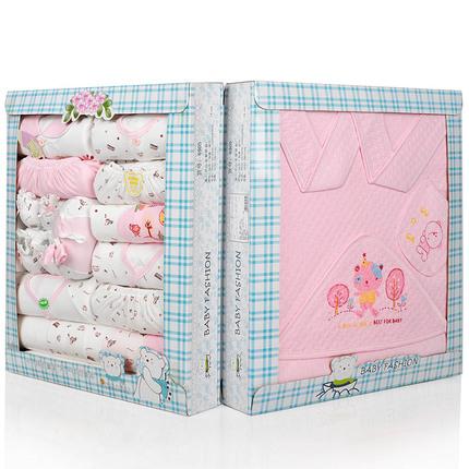 0-1岁BB新生儿宝宝礼盒装生日礼物初生婴儿男女春夏款20件衣服