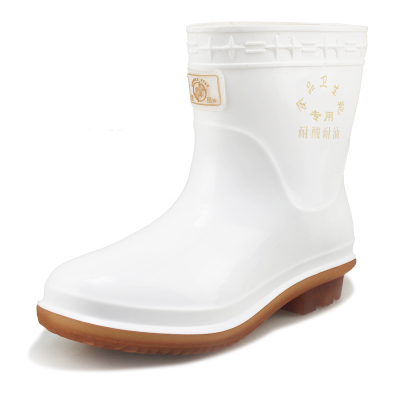 Binaries food tube rubber boots TH-9935-3 Mens Spring boots tendon at the end of health food kitchen dedicated