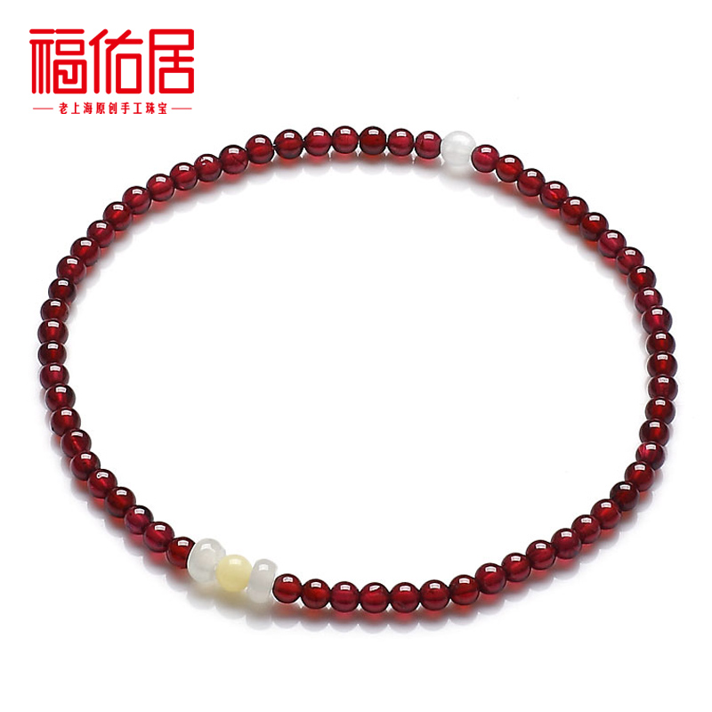  Bliss Garnet anklet jewelry Crystal AA grade female Korean fashion hand-jade Red