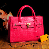 taobao english Handbag new 2013 spring and summer handbag Boston bag Korean fashion crocodile pattern diagonal retro wave free shipping