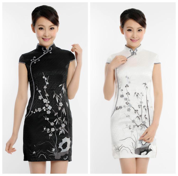 夏季新款旗袍裙 夏装改良旗袍中式优雅时尚日常旗袍短款 特价