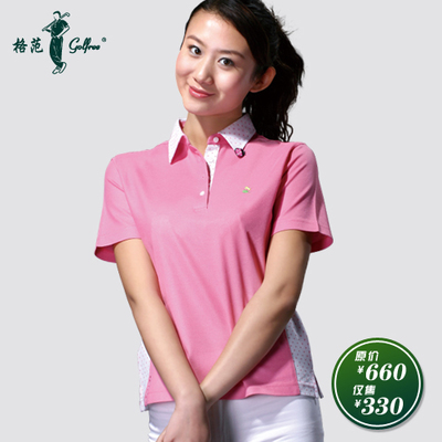 Egyptian cotton short-sleeved women / fashion pink T-shirt small insects Seven golf apparel Paradigm golfeee