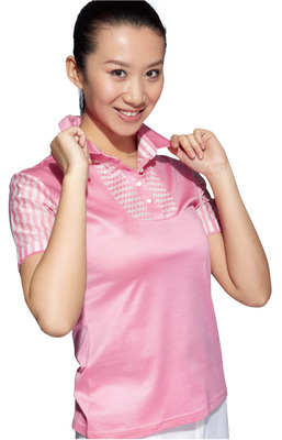 Short-sleeved T-shirt women casual golf apparel mercerized cotton / soft breathable cool T-shirt Paradigm