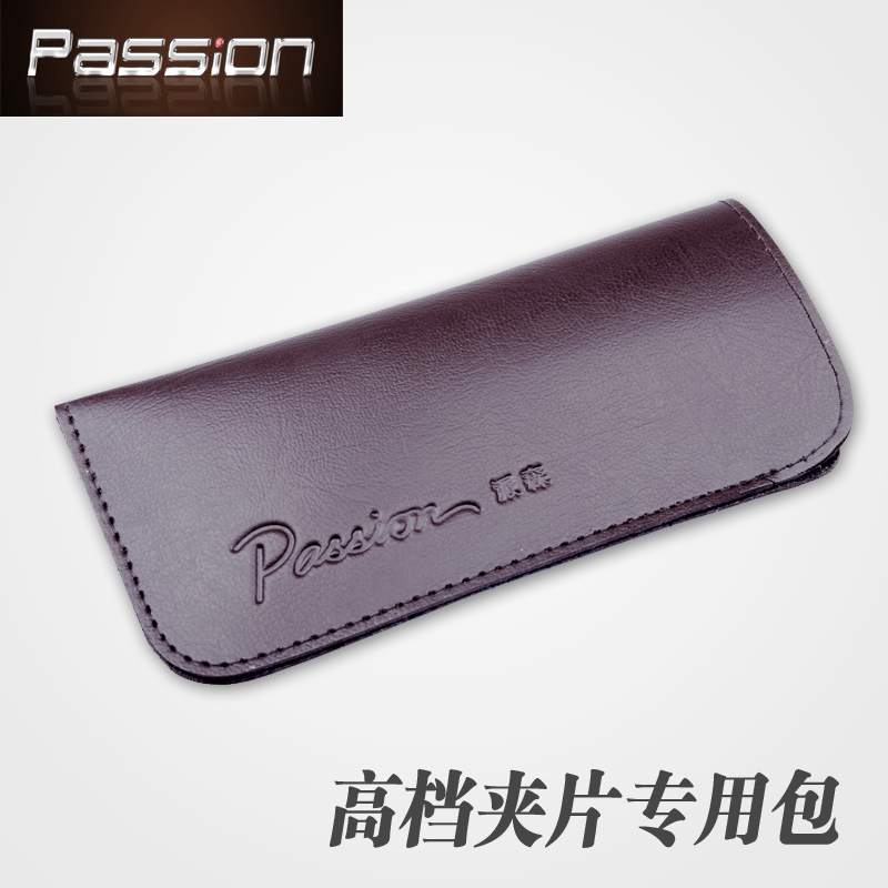 Genuine limited edition leather Parsons clip beautifully soft bag compact splitter clip box