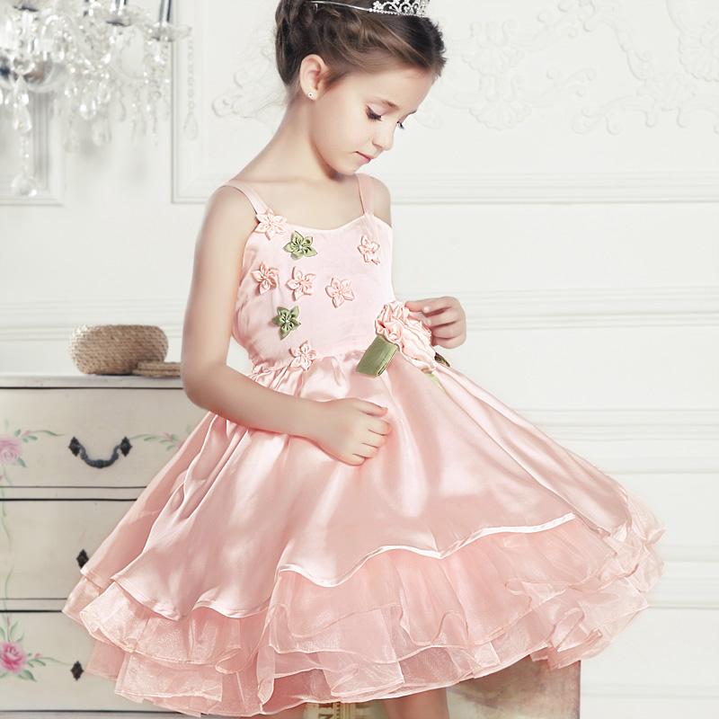 崎珞花童装 女童夏装新款 女童吊带裙夏装 儿童吊带连衣裙 公主裙
