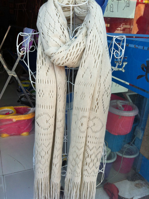 шарф Бежевый сокращение вися шарфы, поворачивая рекламных других частей Чжэцзян и Шанхай обернуть пост 2