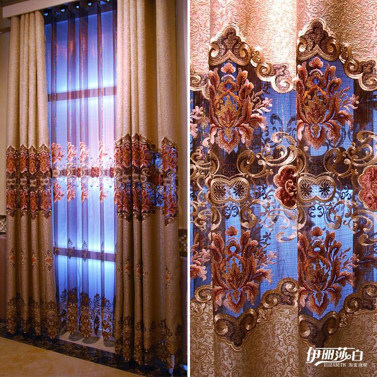 欧式风格窗帘图片