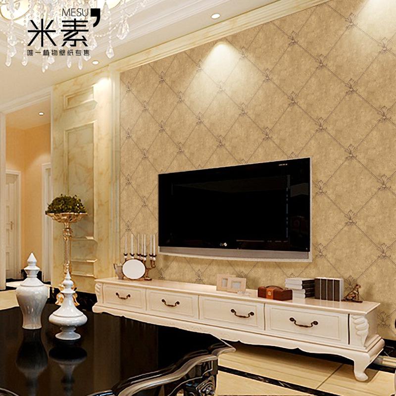 米素墙纸 欧式皮纹电视墙3d壁纸 卧室客厅温馨背景墙壁纸 佳兰特图片
