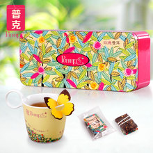 Puerhkiss floral poke herbal tea series Rose pu combination scented tea cooked tea tea bag tea bags