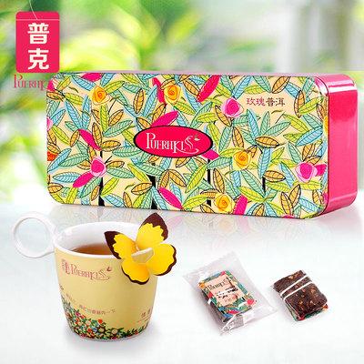 Puerhkiss floral poke herbal tea series Rose pu combination scented tea cooked tea tea bag tea bags