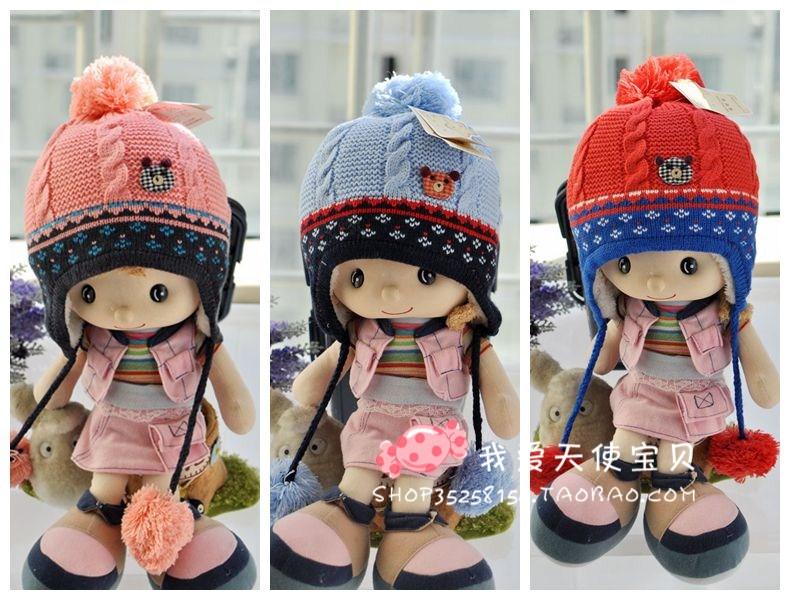 Головной убор Осень/Зима 2013 четверти корейских детей новые шапочки Вяжем детские шапки, детские шапки для мальчиков шлем мешок почты