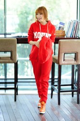 Plus sheep wool velvet leisure suit large size Korean style hoodie sets