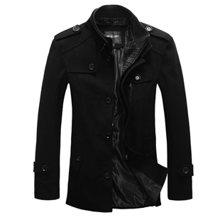 Si Qilong spring men's trench coat men's jackets New England slim business casual wool long bi-fold wallets